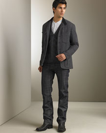 Rag & Bone Hunting Coat & Slim-Fit Jeans -  Men's -  Neiman Marcus