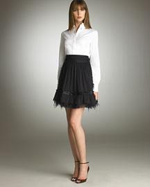 Elie Tahari Nicolette Skirt :  bow dressy looks elie tahari satin
