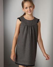 Juicy Couture Ruffle-Trim Shift Dress -  Dresses & Skirts -  Neiman Marcus :  childrens juicy couture kids girls