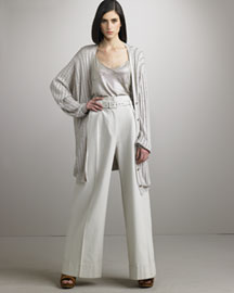 Stella Mccartney             Oversize Cardigan & Wide-Leg Pants-     Fine Apparel-  Neiman Marcus       :  pants oversize cardigan neiman