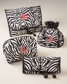 Zebra Silk Accessories -  Personal Accessories -  Neiman Marcus :  travel silk jewelry roll zebra