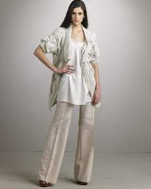 Stella McCartney Embroidered Sweater Coat & Wide-Leg Pants -  Apparel -  Neiman Marcus