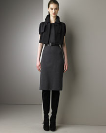 Akris Punto Knit Bolero Jersey Sheath Dress from neimanmarcus.com