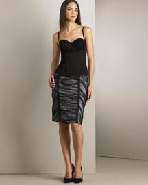 D&G Dolce & Gabbana Stretch Sateen Corset Top & Ruched Organza Skirt- Looks- Neiman Marcus