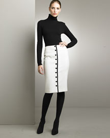 Ralph Lauren Black Label Cashmere Turtleneck & Clarissa Skirt -  Pre-Fall Collections -  Neiman Marcus :  womens clothing new arrivals cashmere ralph lauren new
