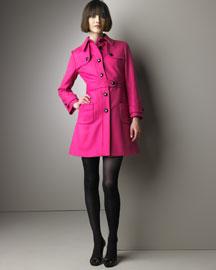 Valentino Red Pleated-Back Coat & Dress - Valentino Red - Neiman