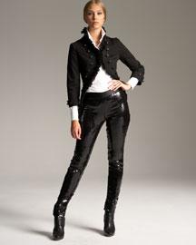 Alexander McQueen Sequined Leggings-  Alexander McQueen-Neiman Marcus :  pants alexander mcqueen leggings georgette
