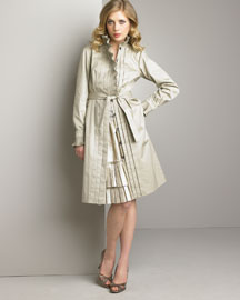 Twenty8Twelve Ruffle-Collar Trench & Tiered Skirt -  Twenty8Twelve -  Neiman Marcus