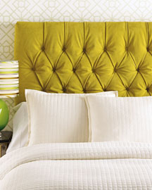 Old Hickory Tannery            Chartreuse Tufted Headboard -   		Furniture - 	Neiman Marcus