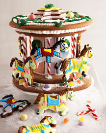 Neiman Marcus Gingerbread Carousel :  gingerbread gift