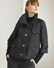 Burberry Quilted Coat -  Coats -  Neiman Marcus :  coats coat jacket accessories sailor