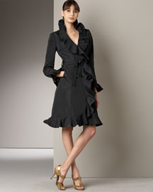 Dolce & Gabbana            Ruffled Coat -   		Fine Apparel - 	Neiman Marcus :  ruffle womens d and g shawl collar
