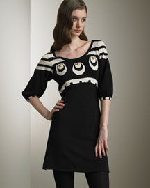 Temperley London Tunic Dress -  Temperley London -  Neiman Marcus :  black three-quarter sleeves dress empire waist