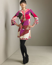 Emilio Pucci Printed Dress -  Apparel -  Neiman Marcus :  kimono italy dress minidress