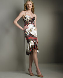 Just Cavalli Printed Bustier Dress- Women's- Neiman Marcus