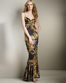 Just Cavalli Printed Gown- European Contemporary- Neiman Marcus
