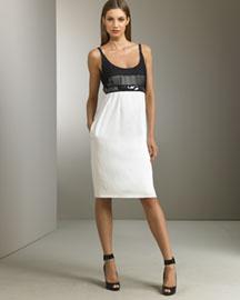 Narciso Rodriguez Contrast Silk Dress- Narciso Rodriguez- Neiman Marcus