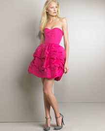Stella McCartney Strapless Bustier Dress -  Apparel -  Neiman Marcus :  dress gathered bustier sweetheart neckline