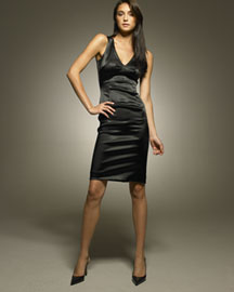 Dolce & Gabbana Satin Dress -  Black -  Neiman Marcus from neimanmarcus.com