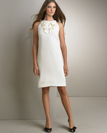 Valentino Satin Bow Shift Dress -  Bridal Gowns -  Neiman Marcus