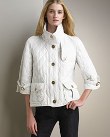 Burberry Cropped Quilted Jacket -  Resort -  Neiman Marcus :  designer clothes coat jacket accessories sailor