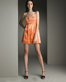 Marc Jacobs Pleated Satin Dress -  Bright Colors -  Neiman Marcus :  summer marcus womens sophisticated