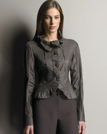 Armani Collezioni Napa Leather Jacket :  armani collezioni