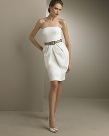 Dolce & Gabbana Belted Strapless Dress -  Apparel -  Neiman Marcus