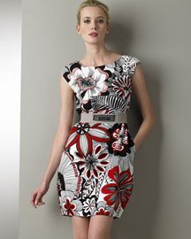 Dolce & Gabbana Floral-Print Dress -  Apparel -  Neiman Marcus :  floral cocktail women neiman