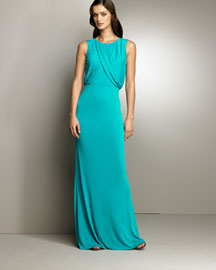 Escada            Draped-Bodice Gown -   		Evening - 	Neiman Marcus :  neiman marcus evening escada draped