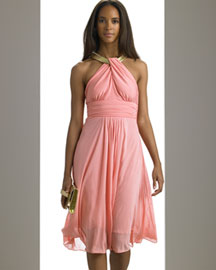 Michael Kors Snake Chain Halter Dress -  Michael Kors -  Neiman Marcus :  necklace neiman marcus designer clothing