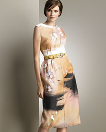 Dolce & Gabbana Hand-Painted Dress -  Shop Art of Fashion -  Neiman Marcus :  natural trends dolce gabbana present