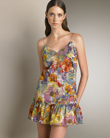 Stella Mccartney Floral Slip Dress -  New Lengths -  Neiman Marcus