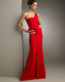 Valentino One-Shoulder Gathered Gown -  Shop Art of Fashion -  Neiman Marcus :  skirt accessories pure silk womens apparel