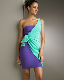 Valentino Gathered One-Shoulder Dress -  Apparel -  Neiman Marcus from neimanmarcus.com