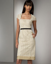 Lela Rose Lace Dress -  Lela Rose -  Neiman Marcus
