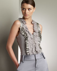 Rachel Roy Ruffled Blouse -  Apparel -  Neiman Marcus :  apparel different chloe summer