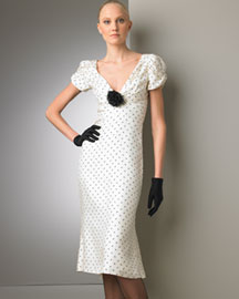Ralph Lauren Collection Polka-Dot Dress -  Neiman Marcus :  ralph lauren polka dot