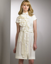 Boudicca Ruffled Shirtdress -  Femininity -  Neiman Marcus :  fashion ruffles clothes dress