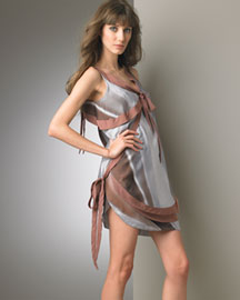 Nina Ricci Draped Asymmetric Dress -  Spring -  Neiman Marcus