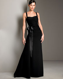 Armani Collezioni Silk Cady Gown -  Women's Apparel -  Neiman Marcus :  women fashion apparel gown