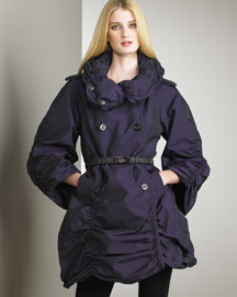 Burberry Prorsum Ruched Trench -  Burberry -  Neiman Marcus