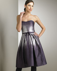 Carolina Herrera Lame Degrade Dress -  Dresses -  Neiman Marcus :  caroline herrera designer dress tonal