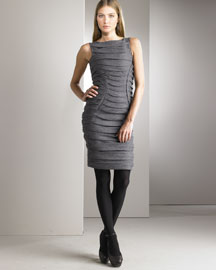 Jil Sander Ruched Sheath Dress -  Jil Sander -  Neiman Marcus :  grey dress