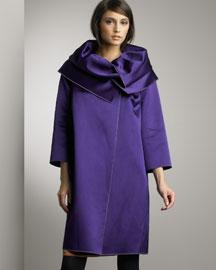 Alberta Ferretti Reversible Coat- Alberta Ferretti- Neiman Marcus :  coat ferretti fashion neiman marcus