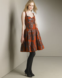 Carolina Herrera Floral Jacquard Dress -  Dresses -  Neiman Marcus :  caroline herrera designer dress dresses