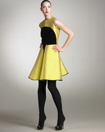Yves Saint Laurent Silk Tokyo Colorblock Dress -  Dresses -  Neiman Marcus :  fashion dress yellow evening