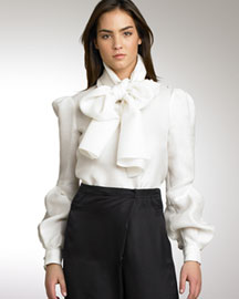 Proenza Schouler            Scarf Top -   		Romantic Blouses - 	Neiman Marcus :  romantic proenza schouler button down white button down