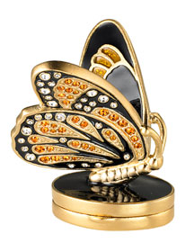 Estee Lauder Exclusive Beautiful Bejeweled Butterfly Perfume Compact -  Gifts under $300 -  Neiman Marcus :  great gift limited edition crystals