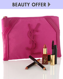 Yves Saint Laurent Beaute Yours with any $200 YSL Beaute Purchase -  Yves Saint Laurent Beaute -  Neiman Marcus :  arrivals designer women clothes makeup bag ysl